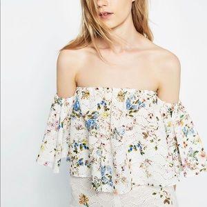 Zara Woman Floral Crop Top size XS